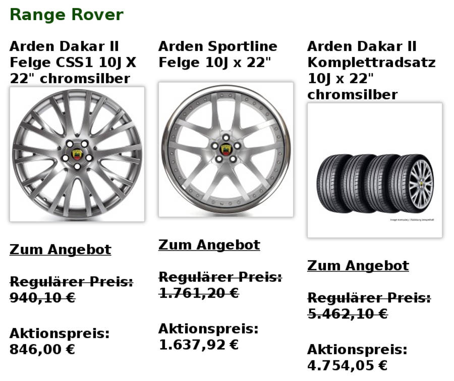 Arden Produkt-Highlights Range Rover August 2016 auf Der Land Rover Treff