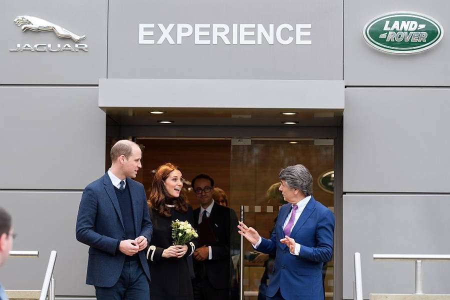 Kate und William in Solihull - Der Land Rover Treff