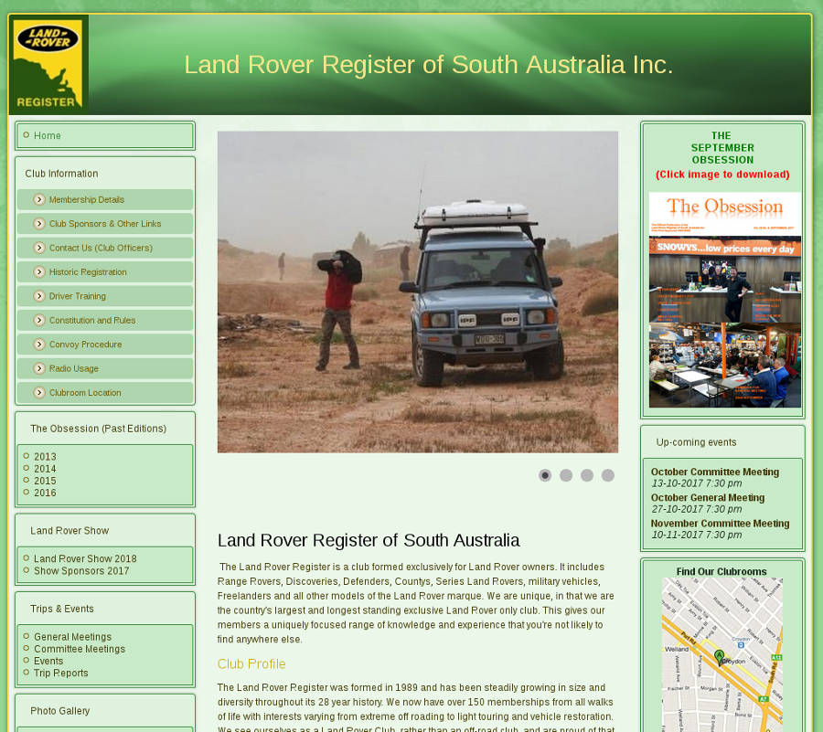 Land Rover Register of South Australia Inc. - Der Land Rover Treff